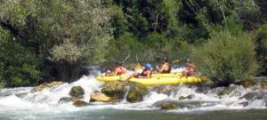 Canoe safari on Cetina river 001